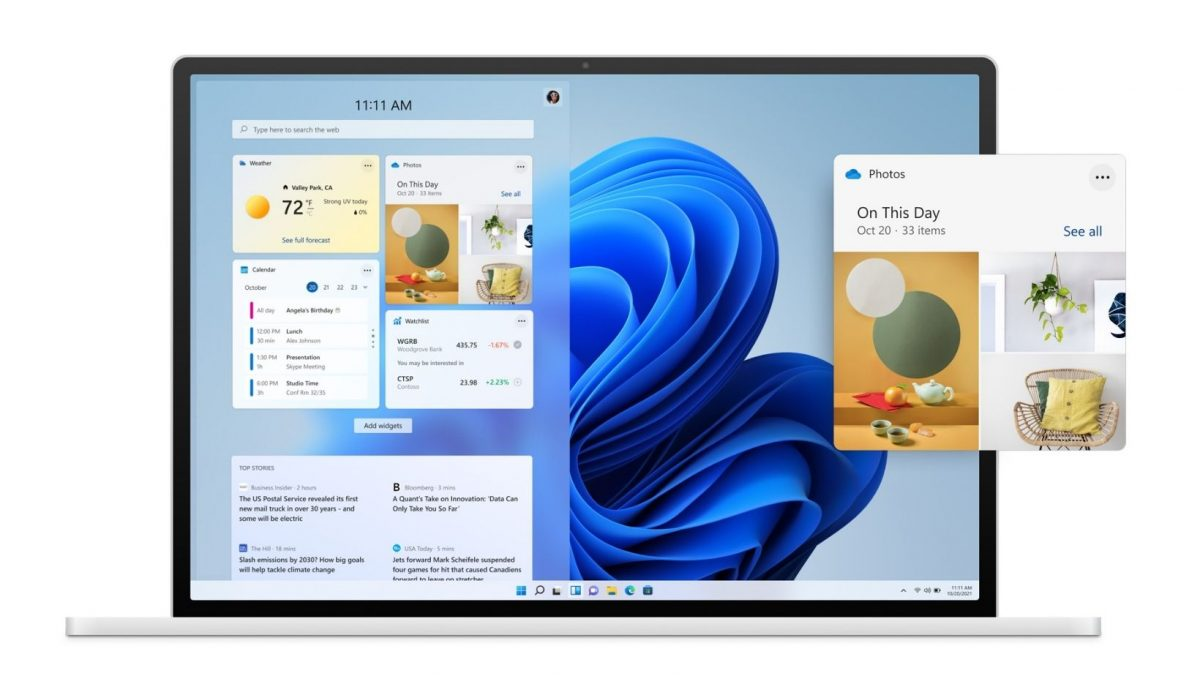 Windows 11 Widgetek